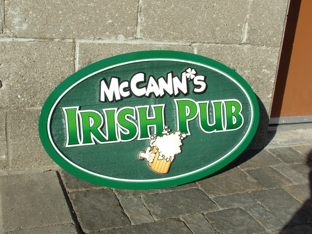 pub sign - st patrick's - The Sign Depot