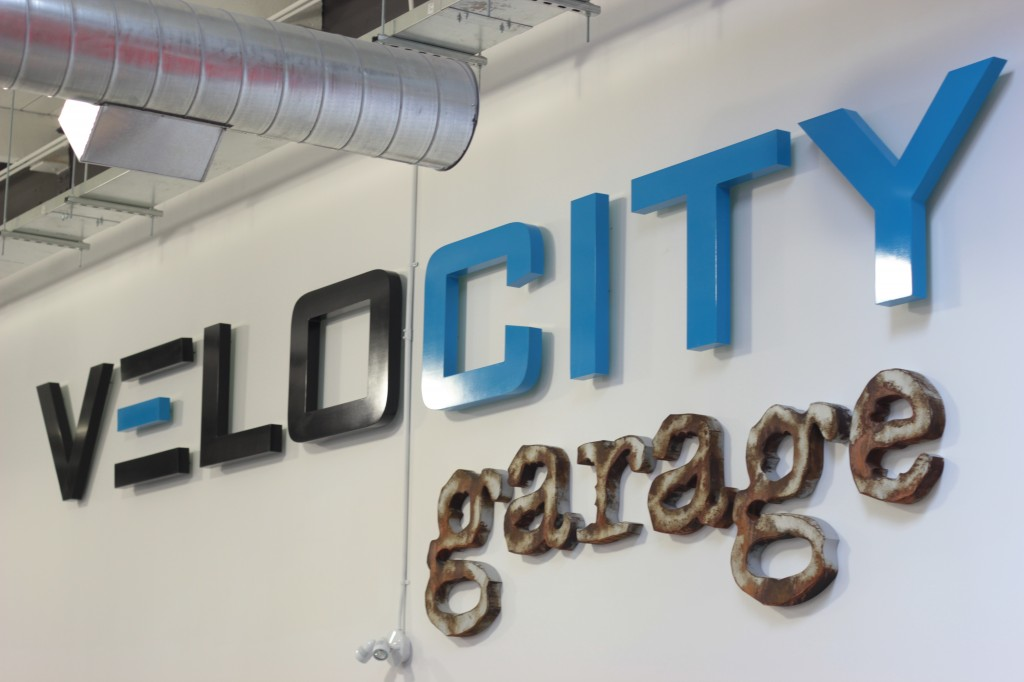 VeloCity Garage Sign - High Density Urethane - The Sign Depot