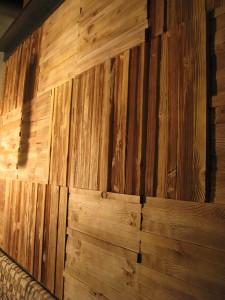cedar wall - against the grain - The Sign Depot