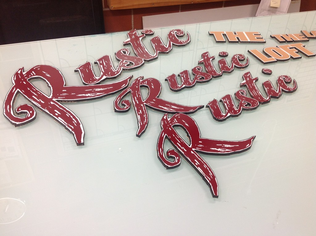 Vinyl sign technique - The Sign Depot