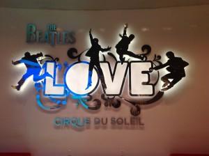 Cirque Du Soliel Beatles Love Sign - The Sign Depot