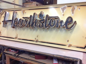 3 Dimensional Sign - Hearthstone Kitchen & Cellar - The Sign Depot
