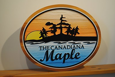 Custom Wood Cottage Sign - The Sign Depot