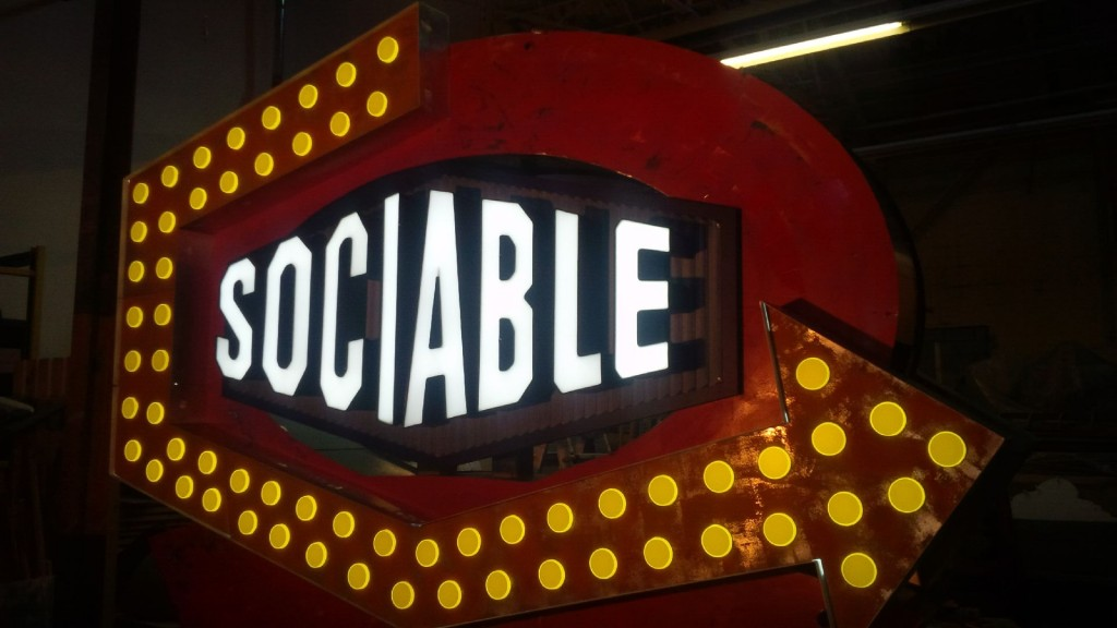 3 Dimensional Signs - Sociable Kitchen + Tavern - The Sign Depot