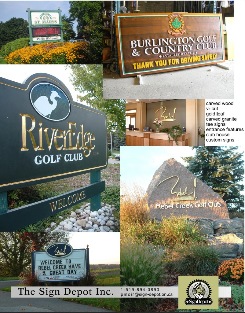 Custom Golf Signs - The Sign Depot