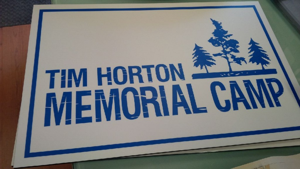 Custom Sign - Tim Horton Children's Foundation Memorial Camp - The Sign Depot