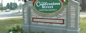 Concession Street shopping district