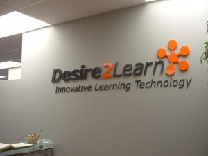 Desire to Learn - Reception Sign - The Sign Depot