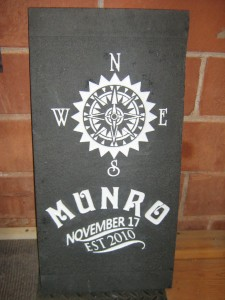 Sandblasted Sign Granite