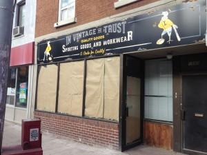 Custom Business Sign - In Vintage We Trust - The Sign Depot