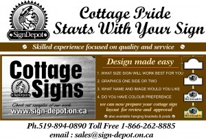 How To Order A Custom Wood Cottage Sign - The Sign Depot