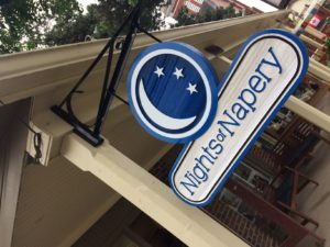 Sandblasted Cedar Signs - Nights Of Napery - The Sign Depot